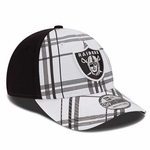 Oakland Raiders New Era 39Thirty Plasidtastic Cap