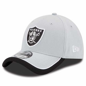 Oakland Raiders New Era 39Thirty Sideline Reverse Color Cap - Click to enlarge