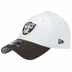 Oakland Raiders New Era 39Thirty TD Classic Grey and Black Cap