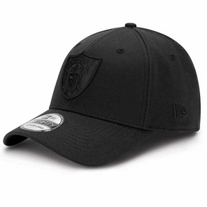 Oakland Raiders New Era 39Thirty Tonal Black Classic Flex Cap - Click to enlarge