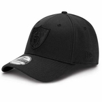 Oakland Raiders New Era 39Thirty Tonal Black Classic Flex Cap