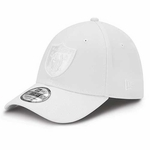 Oakland Raiders New Era 39Thirty Tonal Classic White Cap