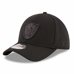 Oakland Raiders New Era 39Thirty Tone Tech Black Cap