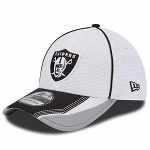 Oakland Raiders New Era 39Thirty Vizaframe Grey - Click to enlarge