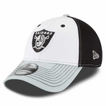 Oakland Raiders New Era 39Thirty White Neo Front Cap