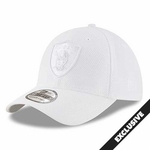 Oakland Raiders New Era 39Thirty White Tone Tech Cap