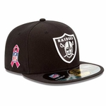 Oakland Raiders New Era 59Fifty 2013 Breast Cancer Awareness Sideline Hat