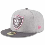 Oakland Raiders New Era 59Fifty 2015 Breast Cancer Awareness Cap