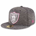 Oakland Raiders New Era 59Fifty 2016 Official Breast Cancer Awareness Cap