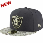 Oakland Raiders New Era 59Fifty 2016 Official Salute to Service Cap