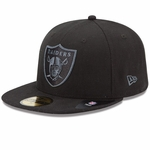 Oakland Raiders New Era 59Fifty Black Grey Basic Cap