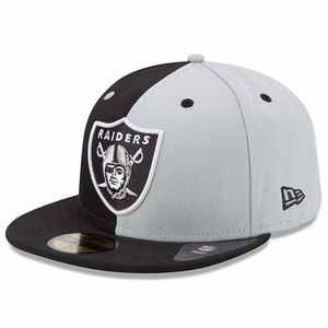 Oakland Raiders New Era 59Fifty Blocked Up Fitted Cap - Click to enlarge