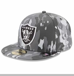 Oakland Raiders New Era 59Fifty Camo Bark Cap