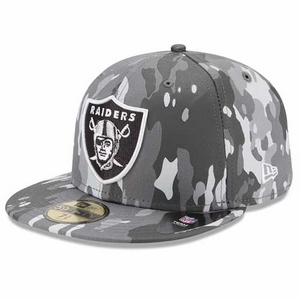 Oakland Raiders New Era 59Fifty Camo Bark Cap - Click to enlarge