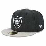 Oakland Raiders New Era 59Fifty Heather Action