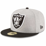 Oakland Raiders New Era 59Fifty Heather Grand Cap