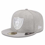 Oakland Raiders New Era 59Fifty Heather League Basic