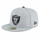 Oakland Raiders New Era 59Fifty Heather League Cap