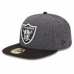 Oakland Raiders New Era 59Fifty Melton Basic Fitted Cap