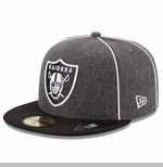Oakland Raiders New Era 59Fifty Piping Cap
