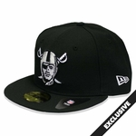 Oakland Raiders New Era 59Fifty Pirate Logo Black Cap