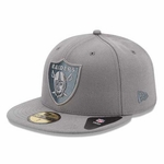 Oakland Raiders New Era 59Fifty Pop Grey Basic Cap