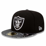 Oakland Raiders New Era 59Fifty Print Trance Cap