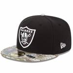 Oakland Raiders New Era 59Fifty Salute to Service Cap