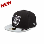 Oakland Raiders New Era 59Fifty SideSlicker Cap