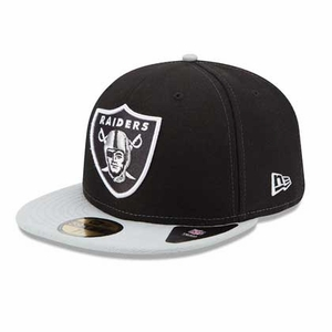 Oakland Raiders New Era 59Fifty SideSlicker Cap - Click to enlarge