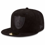 Oakland Raiders New Era 59Fifty Solid Suede Cap