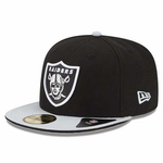 Oakland Raiders New Era 59Fifty Two Tone Split Cap