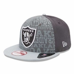 Oakland Raiders New Era 9Fifty Adjustable Draft Cap