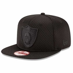 Oakland Raiders New Era 9Fifty Black Jersey Tone Cap
