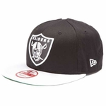 Oakland Raiders New Era 9Fifty Black Top Snap Back Cap