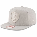 Oakland Raiders New Era 9Fifty Grey Heather Basic Snapback