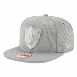 Oakland Raiders New Era 9Fifty Grey Jersey Tone Cap