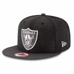 Oakland Raiders New Era 9Fifty Heather Action Snap