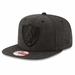 Oakland Raiders New Era 9Fifty Heather Basic Snapback