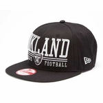 Oakland Raiders New Era 9Fifty Lateral Snapback Cap