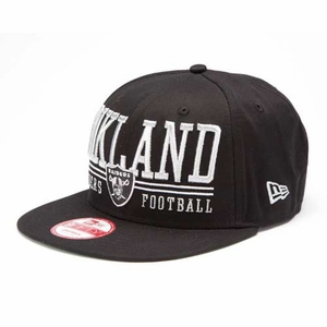 Oakland Raiders New Era 9Fifty Lateral Snapback Cap - Click to enlarge