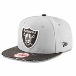 Oakland Raiders New Era 9Fifty Leather Rip Snap