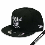 Oakland Raiders New Era 9Fifty Pirate Logo Black Cap