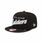 Oakland Raiders New Era 9Fifty Script Snapback Cap