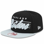 Oakland Raiders New Era 9Fifty Stripe Frontier Cap