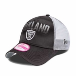 Oakland Raiders New Era 9Fifty Truck Shine Cap