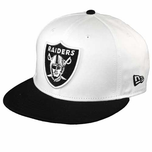 Oakland Raiders New Era 9Fifty White Top Snap Back Cap - Click to enlarge