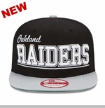 Oakland Raiders New Era 9Fifty Word Cap