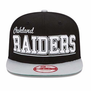 Oakland Raiders New Era 9Fifty Word Cap - Click to enlarge