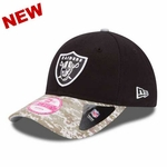 Oakland Raiders New Era 9Forty 2014 Womens Salute to Service Cap